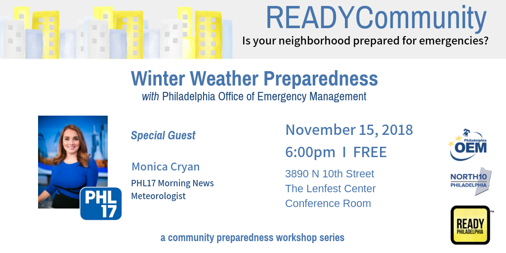 Winter Weather Preparation Workshop with #READYPhilly