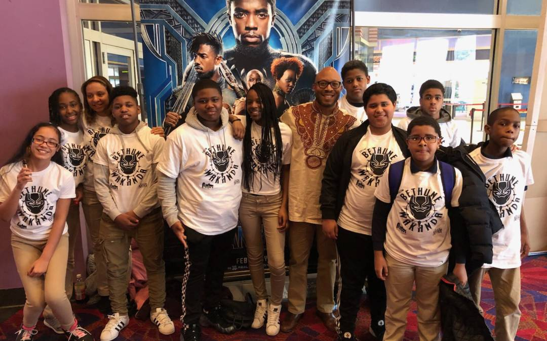 Bethune Elementary Students Attend 'Black Panther' Premiere